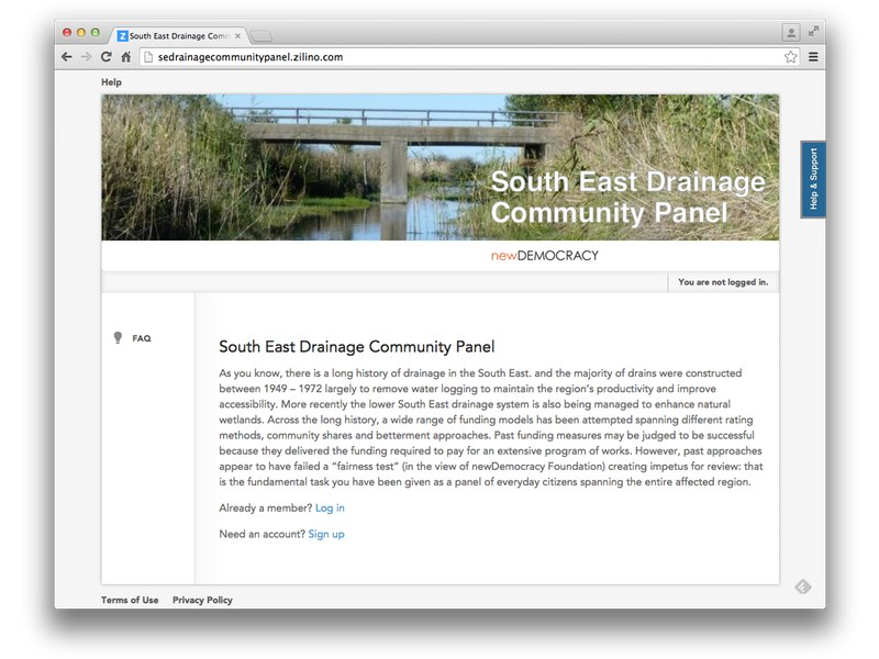 Screenshot South East Drainage Community Panel